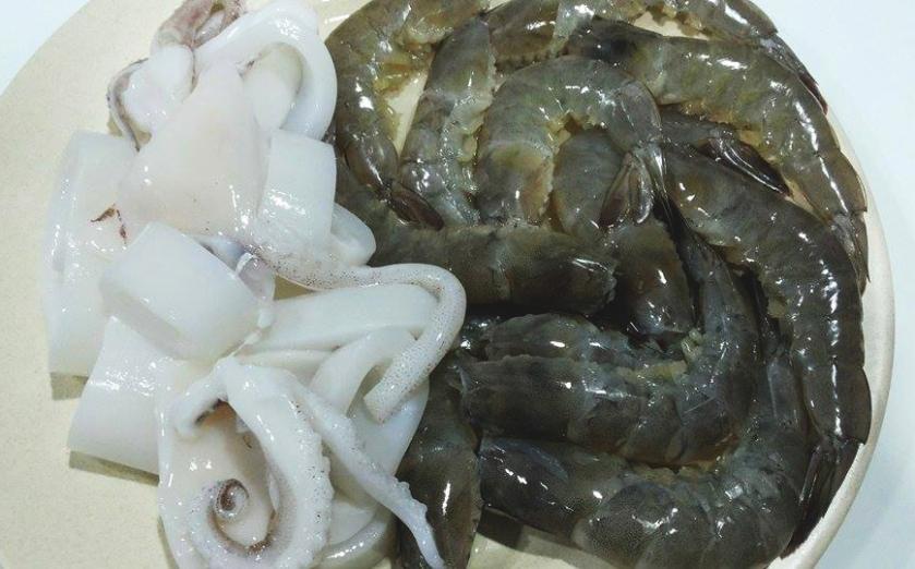 Squid and Prawns